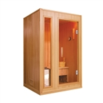 ALEKO SE2BEGA 2 Person Canadian Hemlock Wood Indoor Wet Dry Sauna with 3 KW ETL Electrical Heater