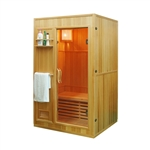 ALEKO® SEN2OLT 2 Person Canadian Hemlock Wood Indoor Wet Dry Sauna with 3 KW ETL Electrical Heater