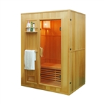 ALEKO® SEN3OKA 3 Person Canadian Hemlock Wood Indoor Wet Dry Sauna with 3 KW ETL Electrical Heater