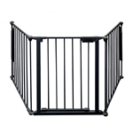 Fireplace Safety Fence - 77 x 30 Inches - Black