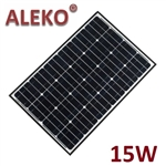 ALEKO Solar Panel Polycrystalline 15W for any DC 12V Application (gate opener, portable charging system, etc.)