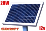 ALEKO® 20W Solar Panel for any DC 12V Application (gate opener, portable charging system, etc.)