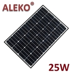 ALEKO Solar Panel Polycrystalline 25W for any DC 12V Application (gate opener, portable charging system, etc.)