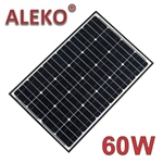 ALEKO® Solar Panel Monocrystalline 60W for any DC 12V Application (gate opener, portable charging system, etc.)