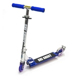 Deluxe Ski Skoot Scooter for Street or Snow with Removable Ski Attachment - Blue