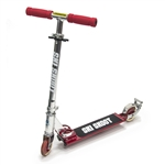 Deluxe Ski Skoot Scooter for Street or Snow with Removable Ski Attachment - Red