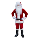 ALEKO® SS01RW Christmas Santa Claus Plush Full Costume With Beard and Wig