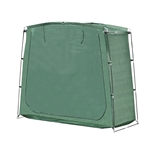 Outdoor Waterproof Rectangular Bike Storage Tent - 64 Inch High - Green