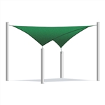 ALEKO® Square Shade Sail Green Color