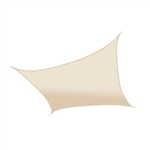 ALEKO® Rectangle 13' X 10' (4 X 3 m) Waterproof Sun Shade Sail Canopy Tent Replacement, Ivory Color