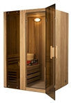 ALEKO STI2CED 2 Person Canadian Cedar Indoor Wet or Dry Steam Room Sauna with 3KW ETL Certified Heater