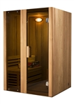 ALEKO STI2HEM 2 Person Hemlock Indoor Wet or Dry Steam Room Sauna with 3KW ETL Certified Heater