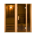 ALEKO STI3CED 3 Person Canadian Cedar Indoor Wet or Dry Steam Room Sauna with 4.5KW ETL Certified Heater