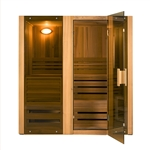 ALEKO STI3HEM 3 Person Hemlock Indoor Wet or Dry Steam Room Sauna with 4.5KW ETL Certified Heater