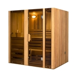 ALEKO STI4HEM 4 Person Hemlock Indoor Wet or Dry Steam Room Sauna with 6 KW ETL Certified Heater