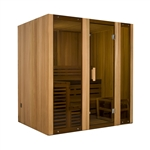 ALEKO STI6HEM 6 Person Hemlock Indoor Wet or Dry Steam Room Sauna with 6 KW ETL Certified Heater