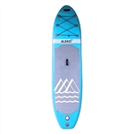 Stand Up Inflatable Paddle Board With Mountain Design - 10 Feet - Light Blue - ALEKO