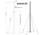 ALEKO® T20 Wind Generator Tower 20 Ft