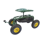 ALEKO TC4501B Garden Cart With Tool Tray and Seat