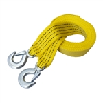 ALEKO TR5T2X13 Heavy Duty Rescue Tow Strap 13 Feet Long (4 m) with Hooks, Yellow
