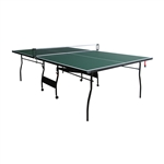 ALEKO TT12GR Indoor Portable Tennis Table with Net Set and Caster Wheels, Green