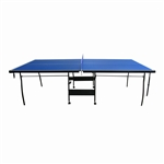 ALEKO TT15BLUE 4 Piece Tennis Portable Table with Net Set, Blue