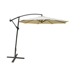 Adjustable Outdoor Garden/Patio Hanging Umbrella - 10 Feet - Cream - ALEKO