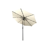 ALEKO UMB10L24BE 10 Ft (3 m) Solar  LED Lighted Tilting Patio Table Umbrella, Beige