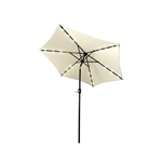 ALEKO UMB9L18BE 9 Ft (2.7 m) Solar  LED Lighted Tilting Patio Table Umbrella, Beige