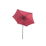 ALEKO UMB9L18BG 9 Ft (2.7 m) Solar  LED Lighted Tilting Patio Table Umbrella, Burgundy