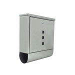 ALEKO® USMB-03 Wall Mounted Mail Box with Retrieval Door 2 Keys and Newspaper Compartment