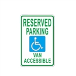 Aluminum Handicap Parking Metal Sign - ALEKO