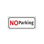 Aluminum No Parking Metal Sign - ALEKO