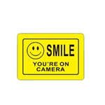 Aluminum Video Surveillance Sign for CCTV - Smile You're On Camera - 10 x 7 Inches - ALEKO