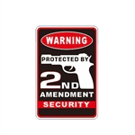 Aluminum 2nd Amendment No Trespassing Sign - 8 x 12 Inches - ALEKO