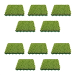 ALEKO® 10AG1X1 10 Square Feet Indoor Outdoor Artificial Grass Deck Tiles