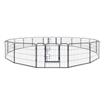 ALEKO 2DK24X32 Heavy Duty 24 X 32 Inches (0.6 X 0.8 m) Pet Playpen 16 Panel Dog Kennel