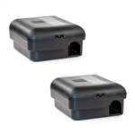 ALEKO 2MTS01BK No Touch Snap Mouse Locked Box Trap Catcher, Black, Lot of 2