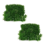 ALEKO 2PE002 10 x 10 Inch Green Square Artificial Soft Grass PA for Fish Tank, Lot of 2