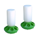 ALEKO® 2PFD002 Bird Feeding Pan, Set of 2, Green and White