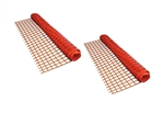 ALEKO 2SF9045OR4X100  Safety Fence Barrier 4 X 100 Feet PVC Mesh Net Guard, Orange, Lot of 2