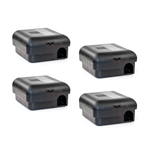 ALEKO 4MTS01BK No Touch Snap Mouse Locked Box Trap Catcher, Black, Lot of 4