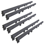 Fiber-Glass Reinforced Nylon Gear Rack with Metal Insert - 3.3 Feet - Set of 6