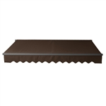 Retractable Patio Awning 12x10 Feet - Brown with Black Frame - ALEKO