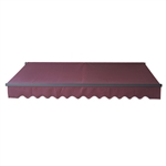 Retractable Patio Awning 13x10 Feet - Burgundy with Black Frame - ALEKO