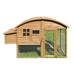 ALEKO Brown Wooden Pet House with Roof Access