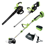 ALEKO® AGTHTLB36V Leaf Blower, String Grass Trimmer, and Hedge Trimmer NiZn Combo Kit, 36-Volt