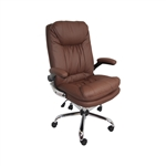 ALEKO ALC3286BR High Back  Brown Office Chair