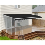 Retractable Patio Awning - 10x8 Feet - Black - ALEKO