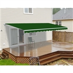 ALEKO® 12x10 Ft Retractable Patio Awning, GREEN Color